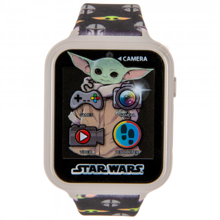 Accutime Star Wars The Child from The Mandalorian All Over Print Interactive Kids Black Watch