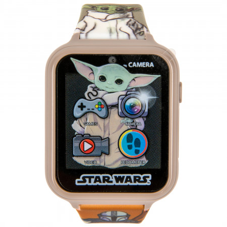 Accutime Star Wars The Mandalorian and The Child Interactive Kids Orange Watch