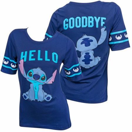 Disney Lilo & Stitch Hello Goodbye Front and Back Women's T-Shirt
