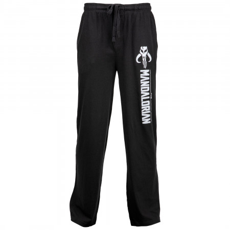 Star Wars The Mandalorian Symbol and Text Unisex Sleep Pants