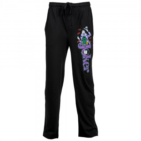 The Joker Character Over Text Unisex Sleep Pants