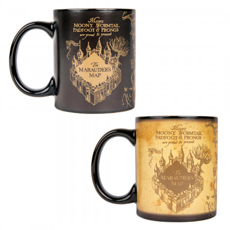 Harry Potter Hogwarts Marauder's Map Heat Change Mug