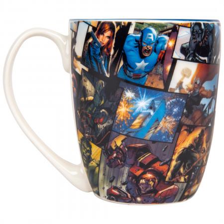Captain America Cartoon Face Mug