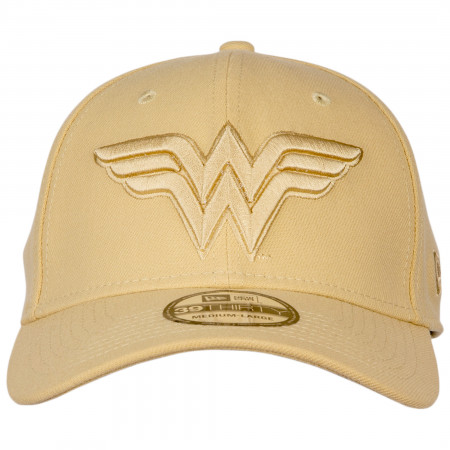 Wonder Woman 1984 Movie Gold Symbol on Gold Armor New Era 39Thirty Fitted Hat