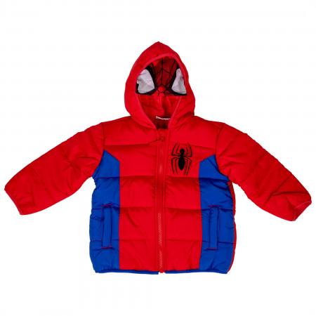 Spider-Man Costume Puffy Kids Jacket