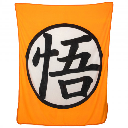 Dragon Ball Goku Symbol Throw Blanket