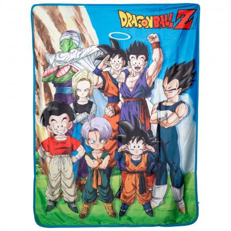 Dragon Ball Z Group Sublimation Throw Blanket