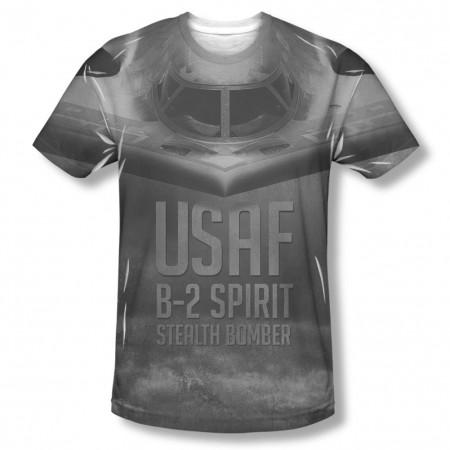 US Air Force Stealth Black Sublimation T-Shirt