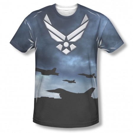 US Air Force Take Off Blue Sublimation T-Shirt