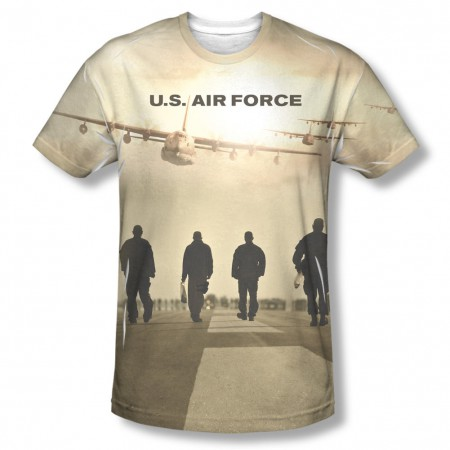 US Air Force Long Walk Sublimation T-Shirt
