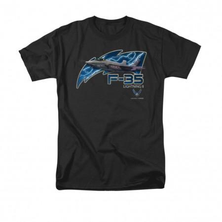 US Air Force F-35 Black T-Shirt