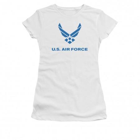 US Air Force Logo White Juniors T-Shirt