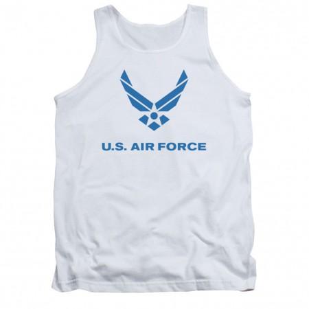 US Air Force Logo White Mens Tank Top