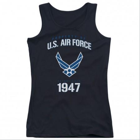 US Air Force Property Black Juniors Tank Top