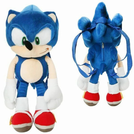 "Sonic the Hedgehog 17"" Plush Backpack"