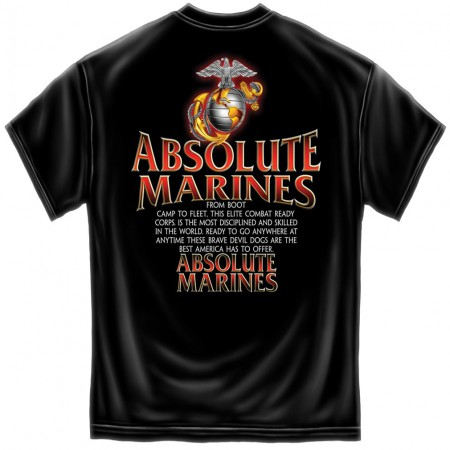 Absolute Marines Patriotic TShirt - Black