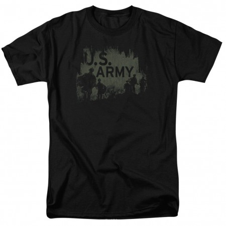 US Army Strong Soldiers Black T-Shirt