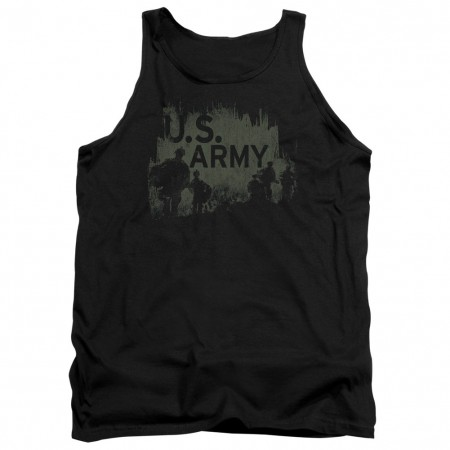 US Army Strong Black Mens Tank Top