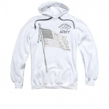 US Army Tristar White Pullover Hoodie