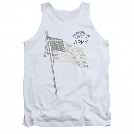US Army Tristar White Mens Tank Top