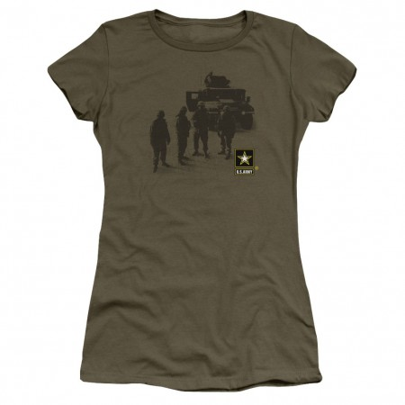 US Army Strong Green Juniors T-Shirt