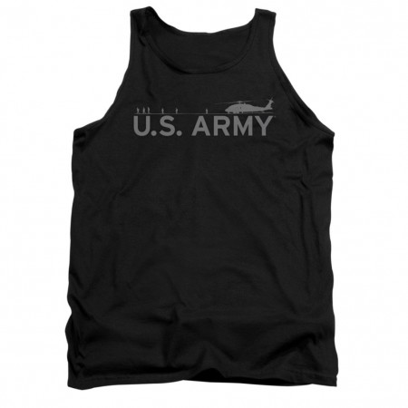 US Army Helicopter Black Mens Tank Top