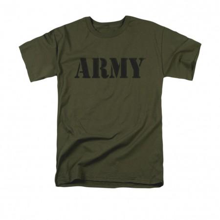 US Army Block Logo Green T-Shirt