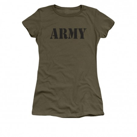US Army Classic Logo Green Juniors T-Shirt