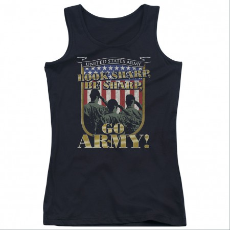 US Army Go Black Juniors Tank Top