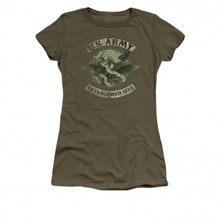 US Army Union Eagle Green Juniors T-Shirt