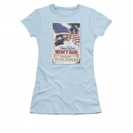 US Army Pearl Harbor Blue Juniors T-Shirt