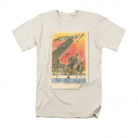 US Army Action Poster Off White T-Shirt