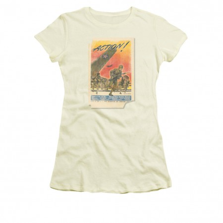 US Army Action Poster Off White Juniors T-Shirt