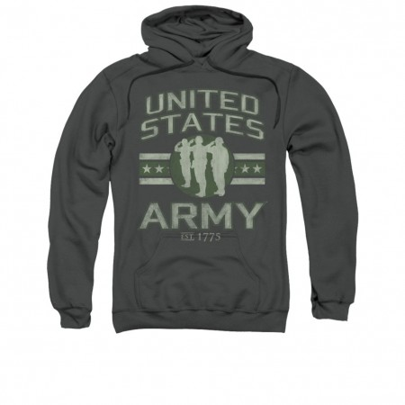 US Army Stars Gray Pullover Hoodie