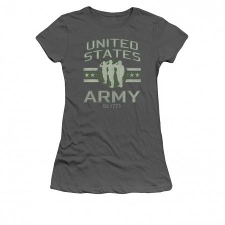 US Army Stars Gray Juniors T-Shirt