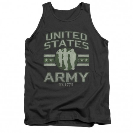 US Army Stars Gray Mens Tank Top