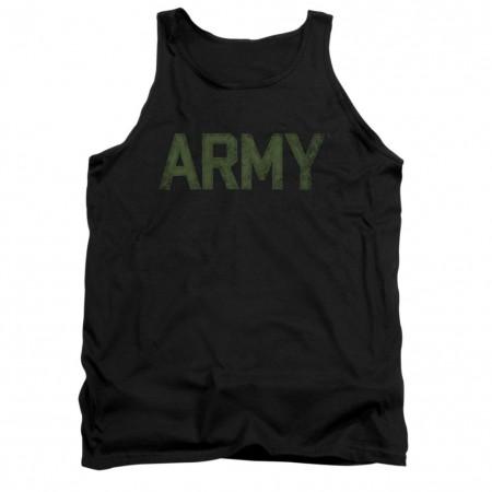 US Army Logo Black Mens Tank Top