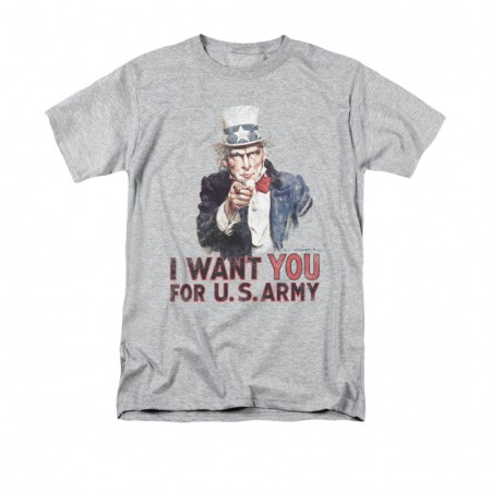 US Army I Want You Gray T-Shirt