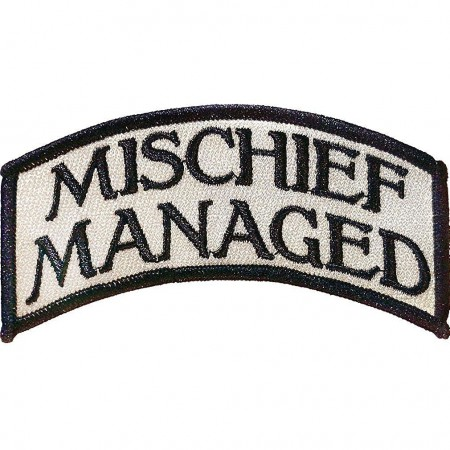 Harry Potter Iron-On Mischief Managed Patch