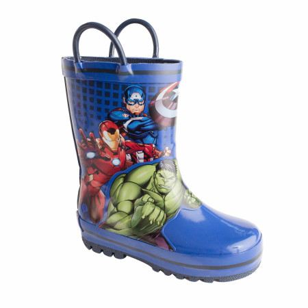 Avengers Team Up Stance Web Kids Rain Boots