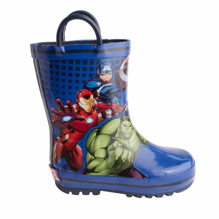 Avengers Team Up Stance Web Kids Rain Boots