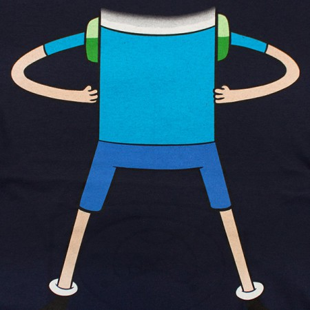 Adventure Time Finn Flip-Up Reversible Shirt - Blue