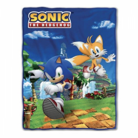 Sonic The Hedgehog and Tails 45 x 60 Fleece Blanket