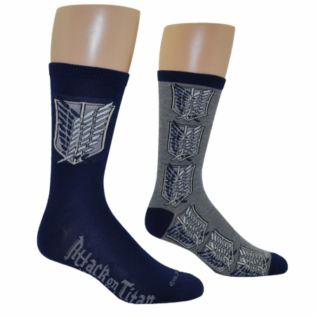 Attack On Titan Scout Regiment 2-Pair Pack Of Crew Socks