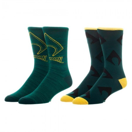 Aquaman Green Men's Crew Socks