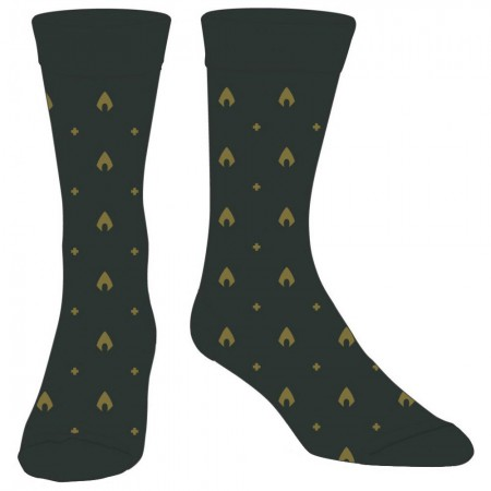Aquaman Green Mini Logo Dress Socks
