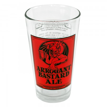 Arrogant Bastard Ale Story Pint Glass