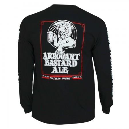 Arrogant Bastard Ale Long Sleeve Men's Graphic Black T-Shirt