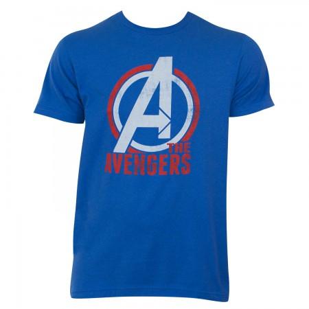 Avengers Logo Men's Blue T-Shirt