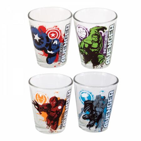 Avengers Shot Glass 4-Pack